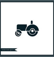 tractor icon simple vector image