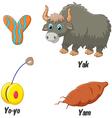 Y alphabet vector image vector image