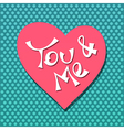 you and me vector image vector image