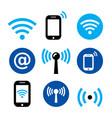 wifi network wireless internet zone smartphone vector image