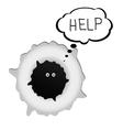 sweet creature call help vector image
