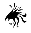 crow abstract vector image