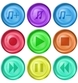 playback buttons vector image