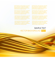 abstract background with gold design elements vector image vector image