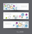 abstract banners set hi tech digital technology vector image vector image