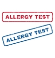 allergy test rubber stamps