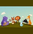 animals playing music instrument in a band vector image vector image