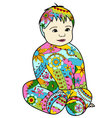 baby-colorful vector image vector image