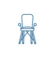 bachair in room line icon concept bachair vector image vector image