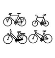 bicycle icon sign symbols set vector image