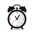 black alarm clock icon on white background vector image vector image