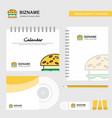 burger logo calendar template cd cover diary and vector image vector image
