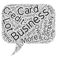 Business Credit Cards and How They Benefit Your vector image vector image