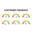 customer rating satisfaction feedback or client vector image