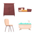 design of furniture and apartment symbol vector image vector image