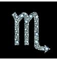 Diamond Scorpio Symbol vector image vector image