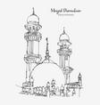 drawing sketch masjid dimaukom or pink vector image vector image