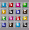 electronic repair glass icons set vector image vector image