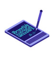 electronic signature tablet props electronic vector image