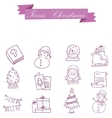 Element Christmas symbol set collection vector image vector image