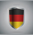 europe flags series germany modern icon vector image