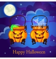 Evil twin pumpkin in the form of boilers vector image vector image