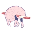 Exhausted Brain collection vector image vector image