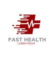 fast health logo designs vector image vector image