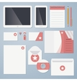 Flat corporate identity vector image vector image