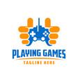 game play inspiration logo design vector image