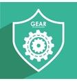 gears shield vector image