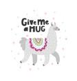 give me a hug lama vector image