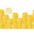 gold coins stacks background vector image