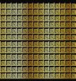 golden geometric symbol pattern vector image vector image