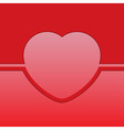 greeting card with red heart vector image vector image