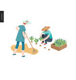 harvesting people fall vector image