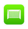 hockey gate icon green vector image vector image