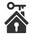 Home Key Flat Icon vector image
