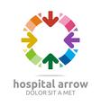 hospital arrow colorful design icon vector image vector image
