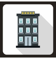 Hotel building icon flat style vector image vector image