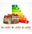 house energy rating 10 v vector image vector image