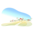 Houses on landscape vector image vector image