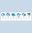 japan website and mobile app onboarding screens vector image vector image