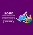 labour concept banner isometric style vector image