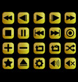 Luxury gold media player buttons interface set
