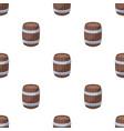 Oak barrel beer a barrel in which beer is brewed vector image