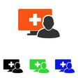 online medicine flat icon vector image
