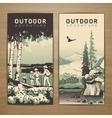 Outdoor flyer vector image vector image