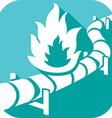 Pipe Line Icon vector image