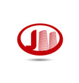 real estate logo template letter j logo vector image vector image